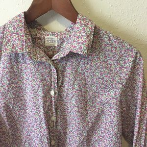 J Crew The Perfect Shirt Button Up Down Floral Top